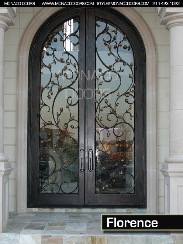 Double Door - Florence & Iron Doors | Monaco Doors | Custom Doors | Wrought Iron Doors