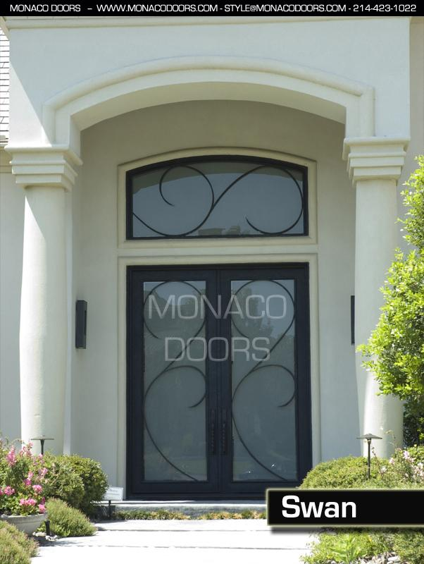 Double Door - Swan & Iron Doors | Monaco Doors | Custom Doors | Wrought Iron Doors